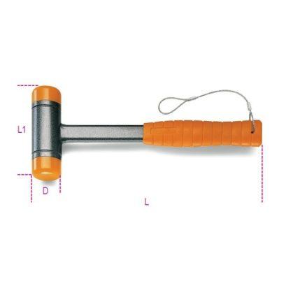 Beta 1392HS Ütéselnyelő műanyag kalapács, cserélhető végekkel, acélnyéllel