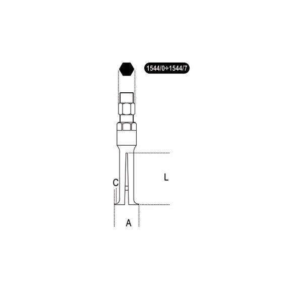 Beta 1544/... Négykörmös belső csapágylehúzó, barnított