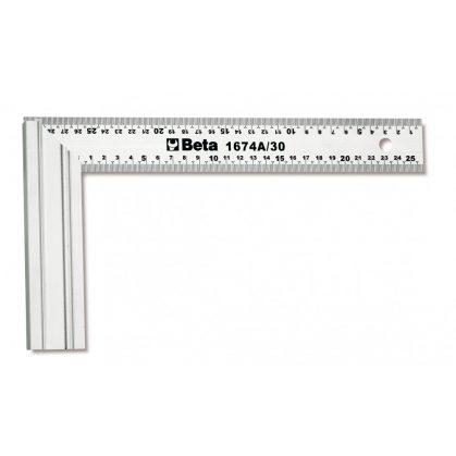 Beta 1674A Asztalos derékszög, a szár acélból, az alaplap alumíniumból készült