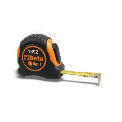Beta 1692 Mérőszalag, ütésálló bimateriál ABS-ház, acélszalag, pontossági osztály: II