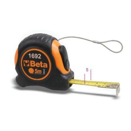 Beta 1692HS Mérőszalag, ütésálló bimateriál ABS-ház, acélszalag, pontossági osztály: II