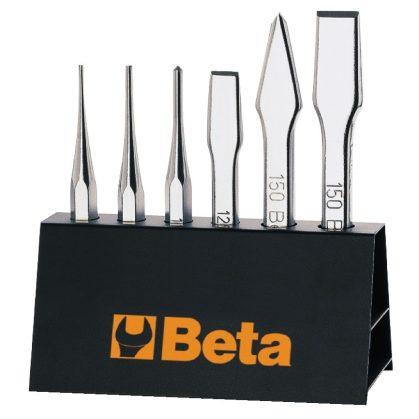 Beta 38/SP6 6 részes kiütő,pontozó , laposvágó és keresztvágó szerszám szerszám készlet tartóval
