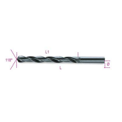 Beta 410AS Rövid csigafúró HSS, hengerelt, polírozott, barnított hornyok, inch-méretű