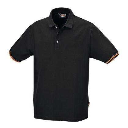 Beta 7547N Három gombos pólóing, 100% pamut, 200 g/m2, fekete