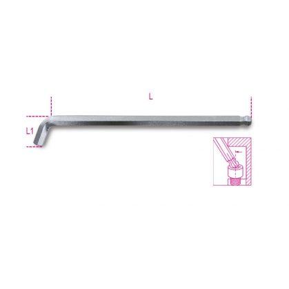 Beta 96BPA 110°-ban hajlított gömbfejű imbuszkulcs, extra rövid kivitel