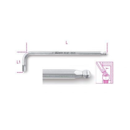 96BPINOX-AS hajlított hatlapfejű belső kulcs gömbölyű szélekkel rozsdamentes acélból