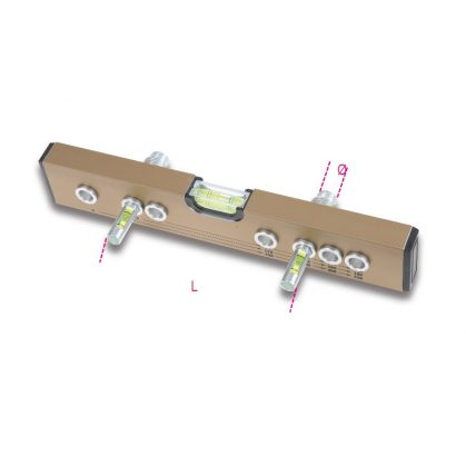 357F3 Vízmérték 3 libellával csapok beállításához