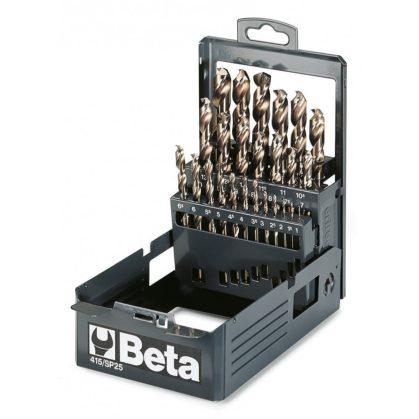 Beta 415/SP25 rövid csigafúró szerszám készlet kofferban