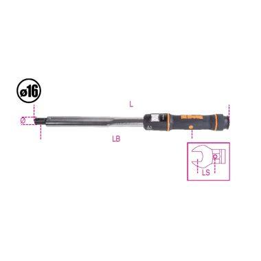 Beta 668N Kioldó hengeres nyomatékkulcs jobb és bal oldali meghúzáshoz meghúzási pontosság ± 3%