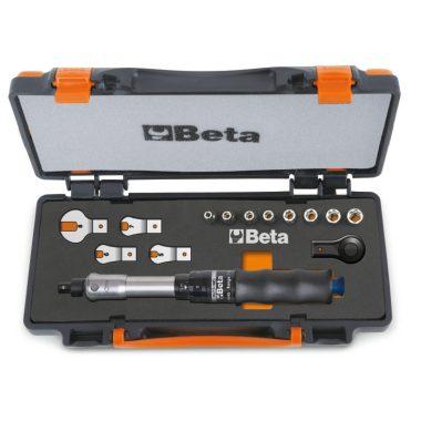 Beta 671B/C5 1 nyomatékkulcs 604B/5, 1 irányváltós racsni, 8 hatlapú dugókulcs és 4 villáskulcs