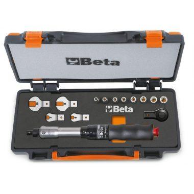 Beta 671B/C10 1 nyomatékkulcs 604B/10, 1 irányváltós racsni, 8 hatlapú-dugókulcs és 4 villáskulcs