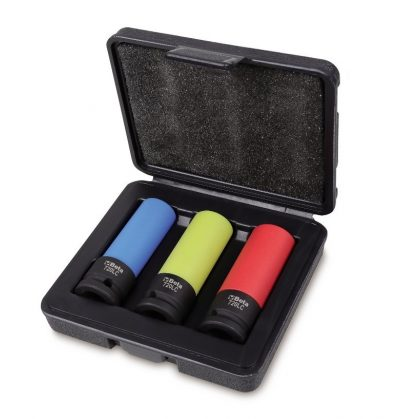 Beta 720LC/C3 3 darabos gépi dugókulcs készlet kerékanyákhoz színes polimer betétekkel