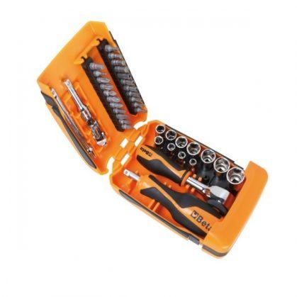 Beta 900/C39-R 11 db hatlapfejű dugókulcs, 21 csavarhúzóbetét és 7 db tartozék készlet