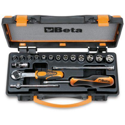 Beta 900/C13-5 13 hatlapú dugókulcs és 5 tartozék, fémdobozban