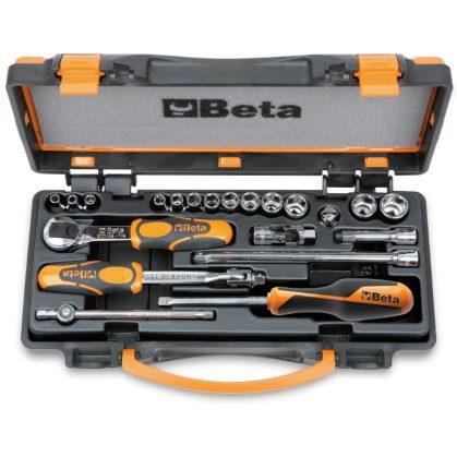 Beta 900/C13-8 13 hatlapú dugókulcs és 8 tartozék, fémdobozban