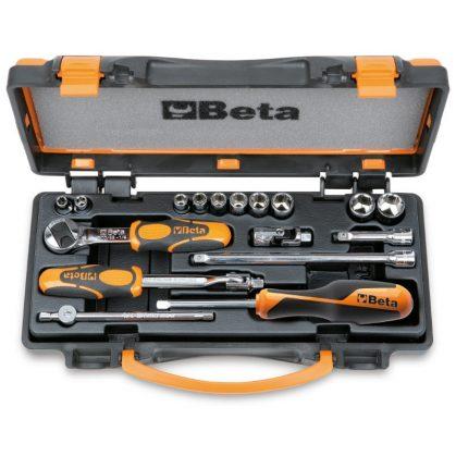 Beta 900AS/C10 10 hatlapú dugókulcs és 7 tartozék fémdobozban