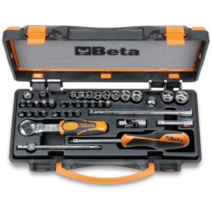 Beta 900/C11 11 hatlapú dugókulcs, 20 csavarhúzóbetét és 8 betéttartó