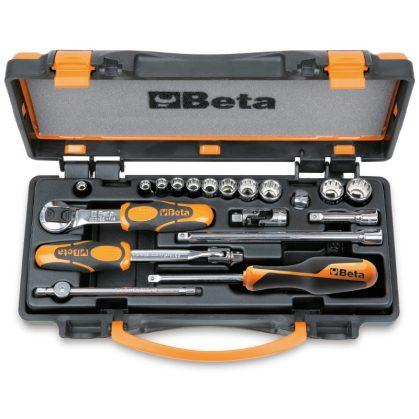Beta 900MB/C19 11 tizenkétszögű dugókulcs és 8 tartozék, fémdobozban