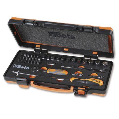 Beta 900/C12 MZ12 darab hatlapú dugókulcs, 20 db csavarhúzóbetét és 7 tartozék