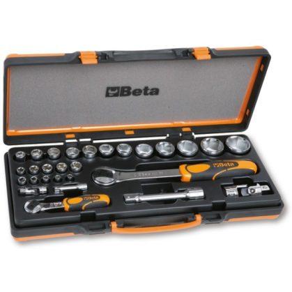 Beta 902A/C22 22 hatlapú dugókulcs és 6 tartozék fémdobozban