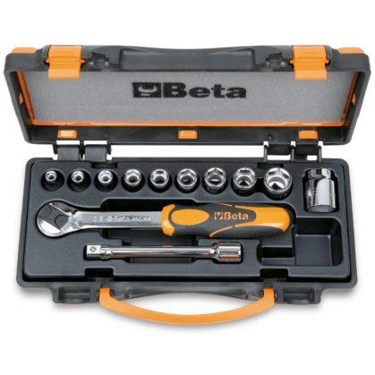 Beta 910A/C10 10 dugókulcs és 2 tartozék fémdobozban