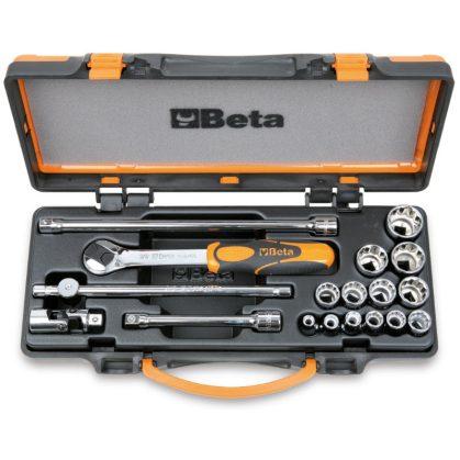 Beta 910AS/C13 13 dugókulcs és 5 tartozék fémdobozban