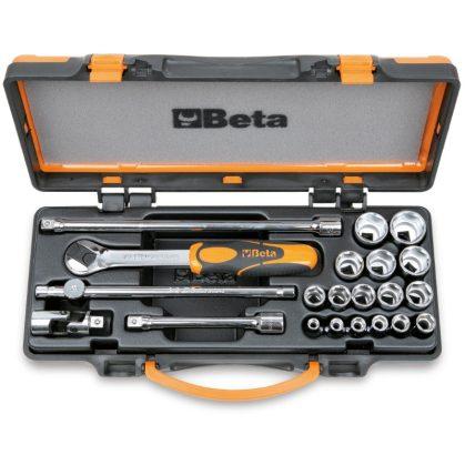 Beta 910A/C16 16 dugókulcs és 5 tartozék fémdobozban