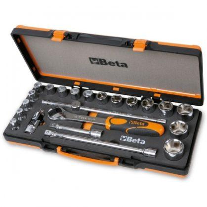 Beta 920A/C17M 17 hatlapú dugókulcs és 5 tartozék fémdobozban