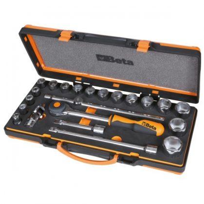 Beta 920A/C17MR 17 hatlapú dugókulcs és 5 tartozék szivacsbetétes fémdobozban