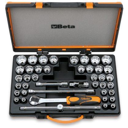 Beta 920/C37 37 dugókulcs és 5 tartozék fémdobozban