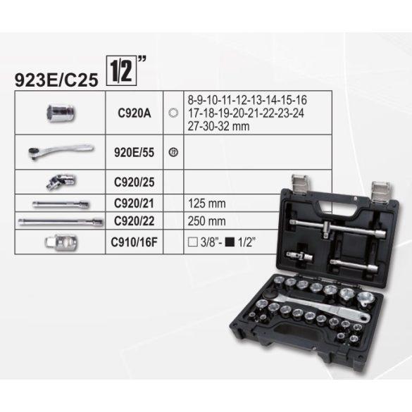 """Beta 923E/C25 Beta EASY dugókulcs készlet, 25 részes 1/2""""-s"""