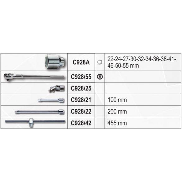 """Beta 928E/C17 EASY dugókulcs készlet, 17 részes 3/4""""-s"""