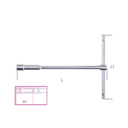 Beta 949 T szárú egyszerű kulcs mély hatlapfejű dugóvéggel