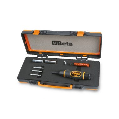 Beta 971/C8 Nyomatékcsavarhúzó tartozékokkal a guminyomás ellenőrző rendszerrel rendelkező gumiabroncs szelepek ellenőrzött meghúzásához