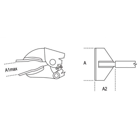 Beta 1063 bádogos önzáró fogó, krómozott
