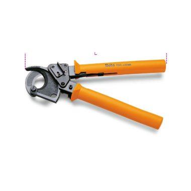 Beta 1134 35 Racsnis kábelvágó, barnított, műanyag nyél