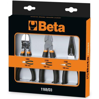 Beta 1169/D3 3 db félkerekcsoru fogó