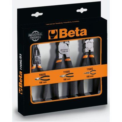 Beta 1169G/D3 1 kombinált fogó, 1 hosszú félkerekcsőrű fogó, 1 oldalcsípőfogó