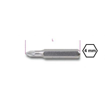 Beta 1256PZ 4 mm betét Pozidriv® - Supradriv® illesztésű csavarokhoz