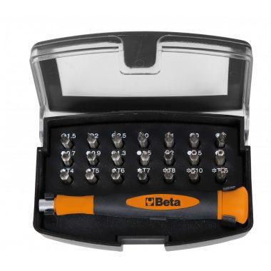 1256/C21-1 BETA EASY 21 darabos csavarhúzó készlet mágneses betéttartóval, zsebben hordható tokban