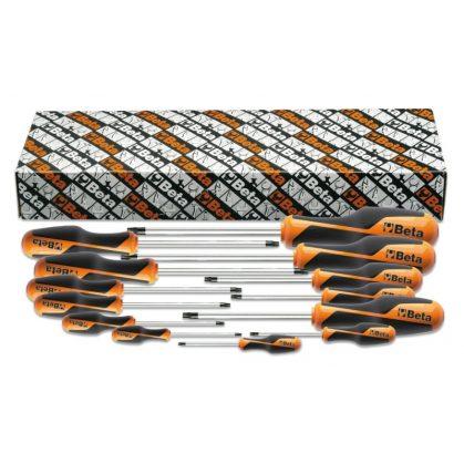Beta 1267TX/S13 Imbusz-csavarhúzókészlet markolattal Torx®-csavarokhoz, 13 darabos