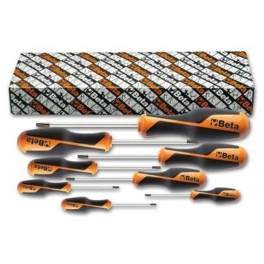 Beta 1268RTX/S8 Imbusz-csavarhúzókészlet markolattal Tamper Resistant Torx® csavarokhoz, 8 darabos