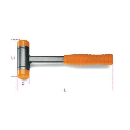 Beta 1392 Ütéselnyelő műanyag kalapács, cserélhető végekkel, acélnyéllel