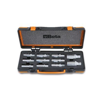 """Beta 1433/C11 11 darabos tőcsavarkihajtó készlet, 1/2"""" lágy hőformált tálcában, fémdobozban"""