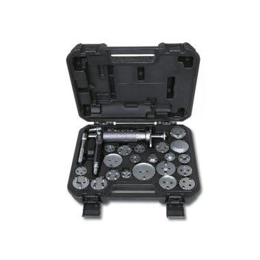 Beta 1471M/C22 Levegős tárcsafékdugattyú szerelő szerszám, jobb és balmenetes, tartozékkal