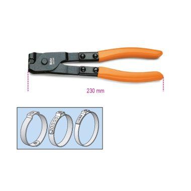 Beta 1473A OETIKER® szemesbilincs összehúzó fogó, barnított, PVC-bevonatú szárral