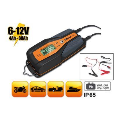 Beta 1498/4A 6-12 V autó-motor elektronikus akkumulátortöltő