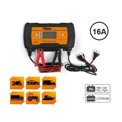 Beta 1498/16a többfunkciós elektronikus akkumulátortöltő, 12-24v