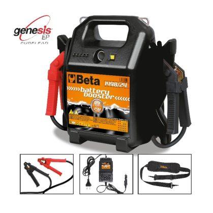 Beta 1498/24 Külső gyorsindító és akkumulátortöltő személygépkocsihoz és haszonjárműhöz, 12-24 V, hordozható