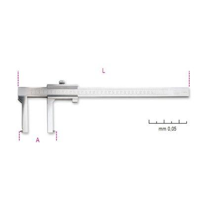 Beta 1650FT Tolómérő dobfékhez, rozsdamentes acélból, pontosság 0.05 mm